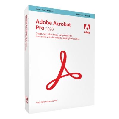 【超值3入組】Adobe Acrobat Pro 2020 中文商業盒裝完整版 (Windows and macOS 永久授權版)-僅支援Win10