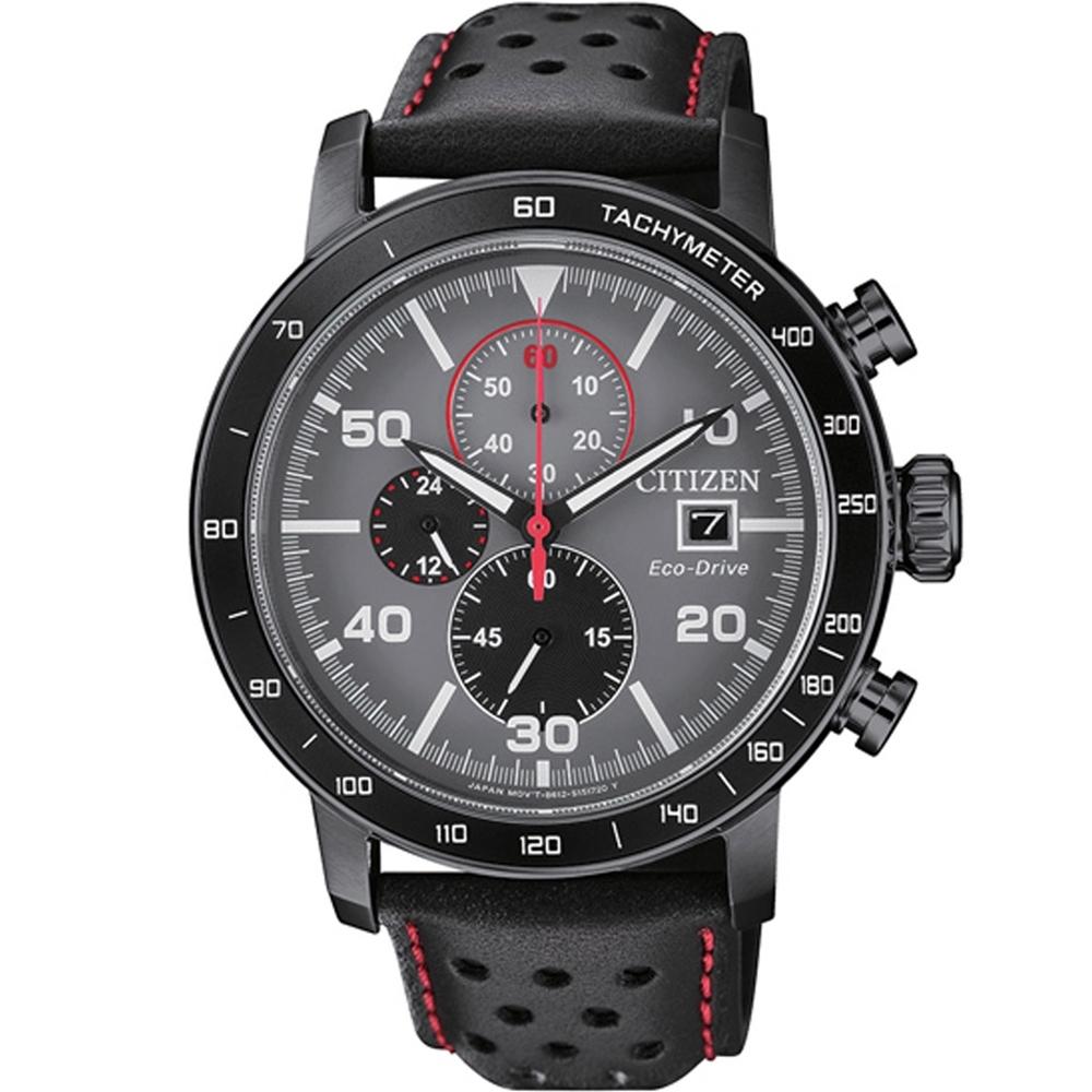 CITIZEN 星辰 Chronograph 計時腕錶-黑銀(CA0645-15H)
