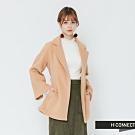 H:CONNECT 韓國品牌 女裝 -知性翻領綁帶外套-卡其(快)