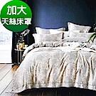 Saint Rose頂級精緻100%天絲床罩八件組(包覆高度35CM)-新序 加大