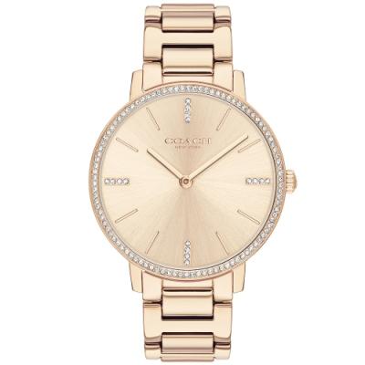 COACH 璀璨晶鑽時尚女錶(14503354)-玫瑰金/35mm