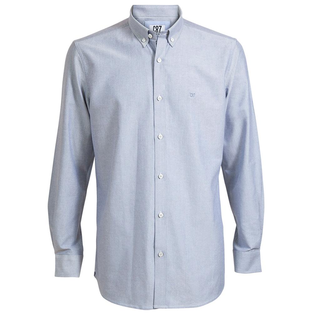 CR7-雙扣領牛津襯衫-藍灰(8610-7300-501)