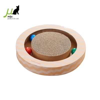 日本Gari Gari Wall(MJU) 圓形貓抓板玩具 (AIM-CAT015)