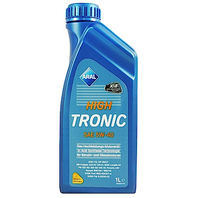 【ARAL 亞拉】HIGH TRONIC 5W-40 SN 機油整箱購 (12入)