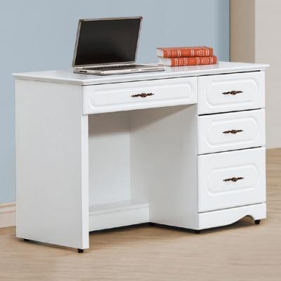 AS-瑞莉烤白3.5尺書桌-105x54.5x78cm