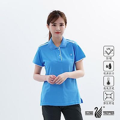 【遊遍天下】MIT女款吸濕排汗抗UV機能POLO衫GS10026水藍