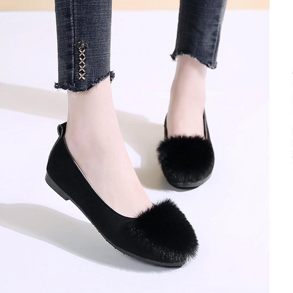 韓國KW美鞋館 韓新品甜美玩色平底鞋-黑色