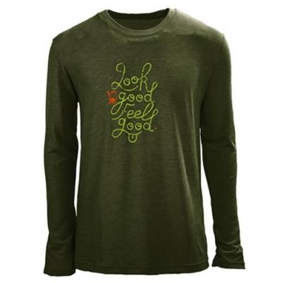 法國【EiDER】男排汗透氣長袖圓領衫 /  EIT1531卡其綠