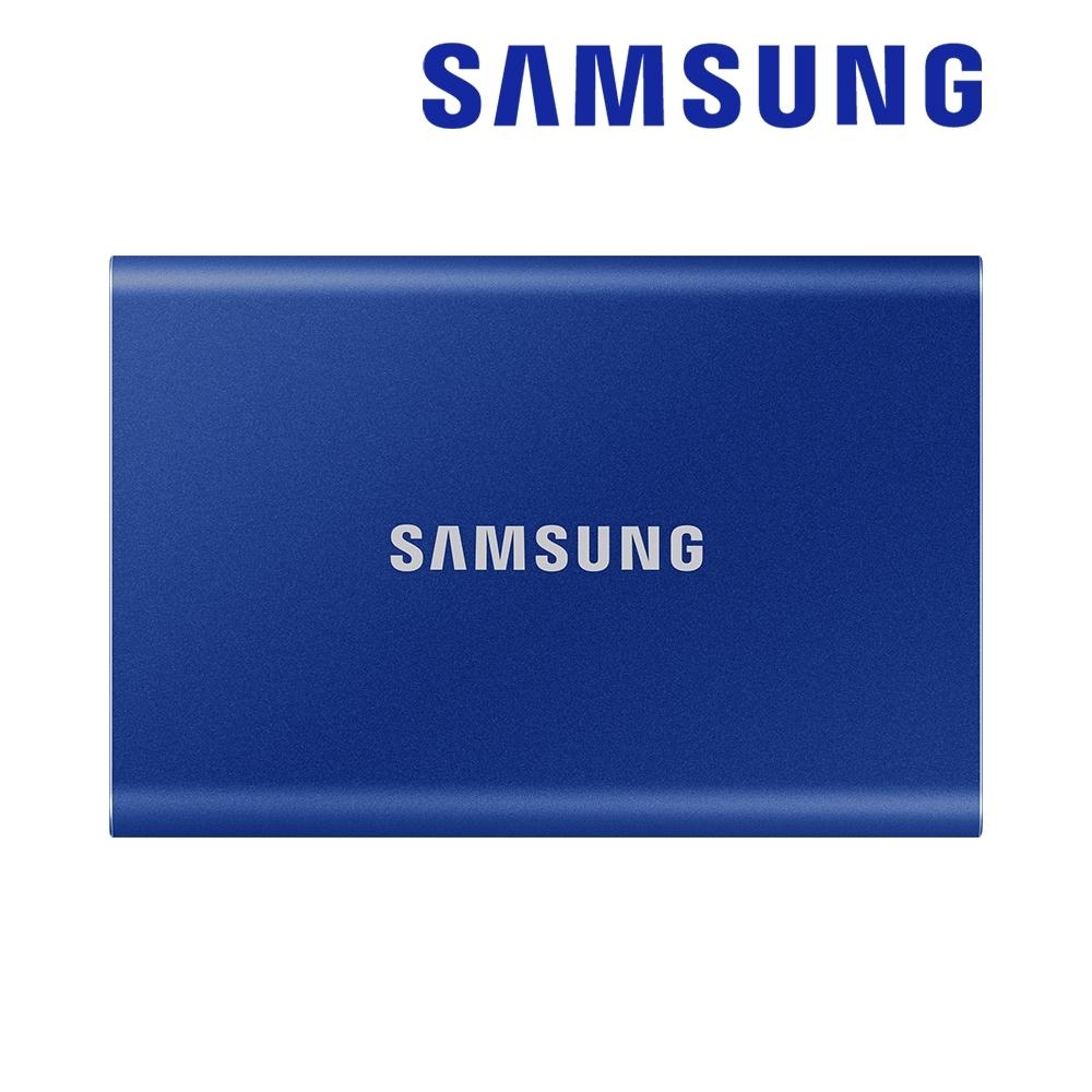 SAMSUNG 三星T7 500G USB 3.2 Gen 2移動固態硬碟 靛藍 (MU-PC500H/WW)