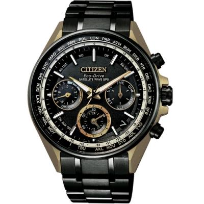 CITIZEN星辰GPS衛星對時鈦金屬F950蓋世腕錶-金(CC4004-66E)