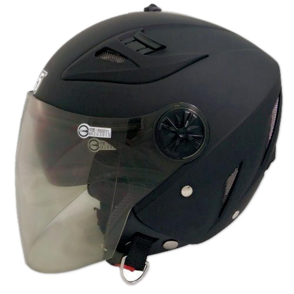 GP-5 時尚安全帽 繽紛 風洞導流設計│抗UV鏡片│半罩安全帽│全可拆│內藏墨鏡 (消光黑)