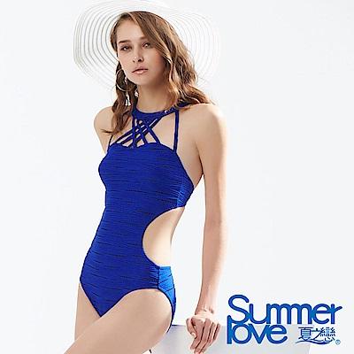 夏之戀SUMMERLOVE 大女性感連身三角泳衣