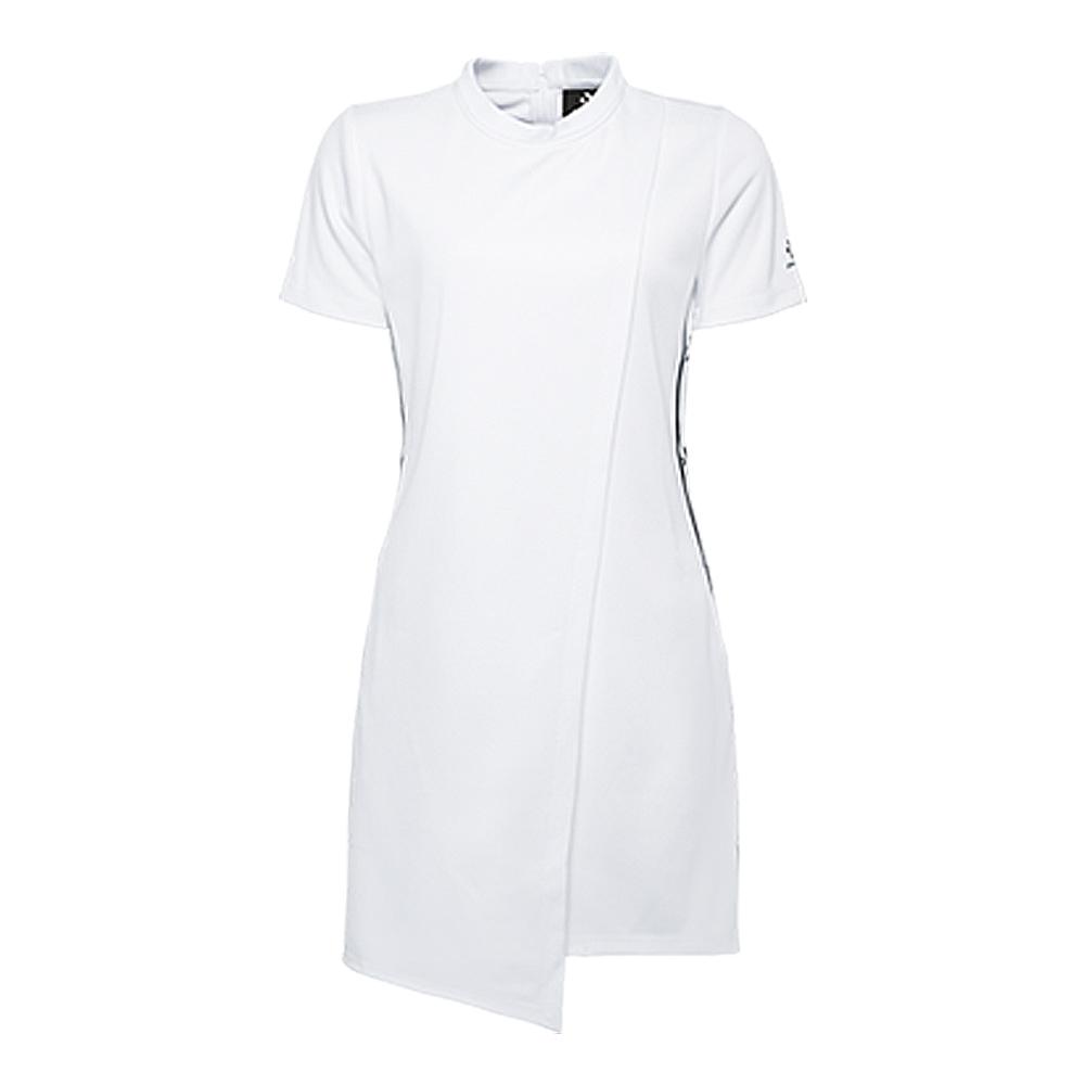 CONVERSE-女短袖連身裙10006743-A01-白