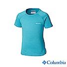 Columbia 哥倫比亞 女童-UPF50快排短袖上衣-藍色 UAG00060BL