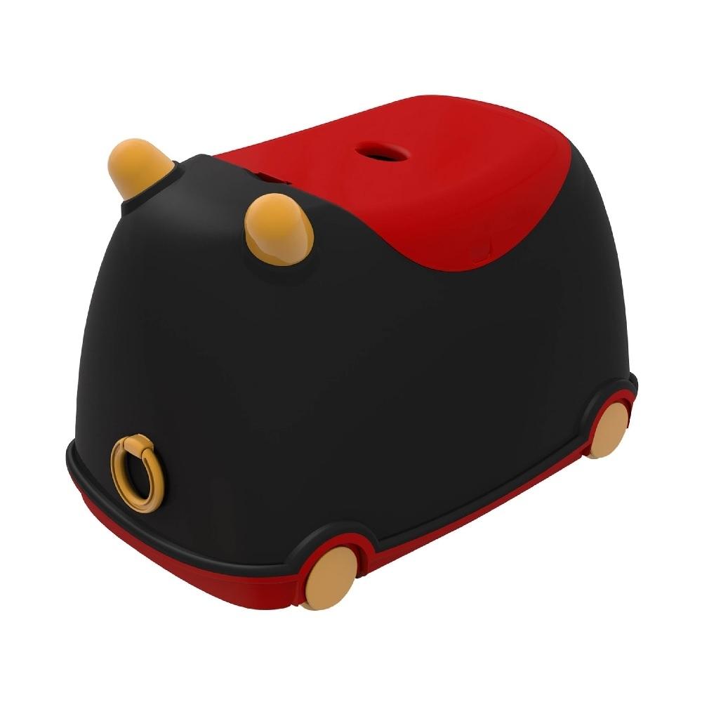 【樹德 livinbox】牛BUBU玩具收納車-黑紅款