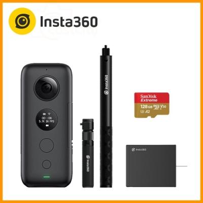 Insta360 ONE X 全景相機 (公司貨) 送128G卡+原廠電池+原廠旋轉自拍棒組