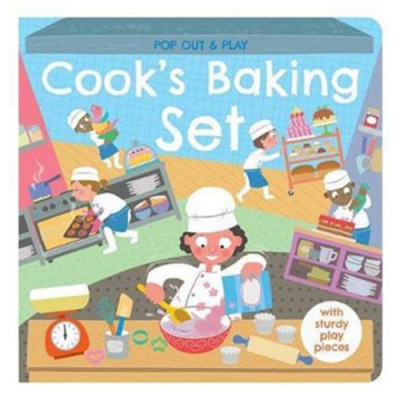Pop Out & Play:Cook's Baking Set 甜點製作遊戲拼圖書