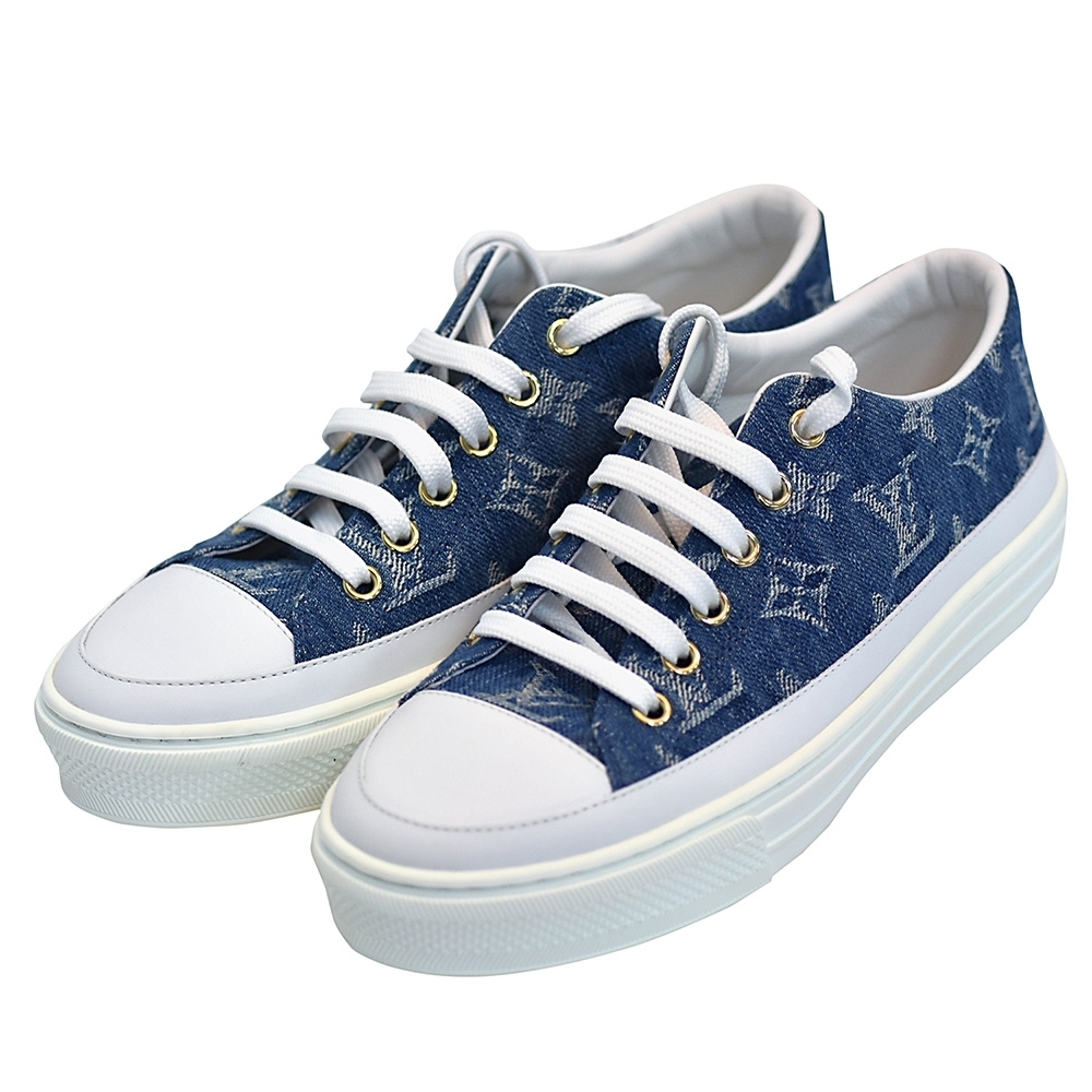 LV 1A4WTT STELLAR系列經典丹寧運動鞋(牛仔藍)