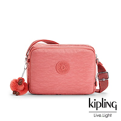 Kipling微甜薔薇粉雙層側背包-SILEN