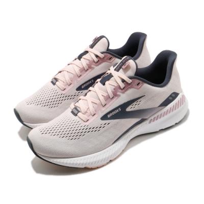 Brooks 慢跑鞋 Launch GTS 8 D 寬楦運動 女鞋 路跑 緩震 DNA科技 透氣 健身 球鞋 粉 灰 1203461D653