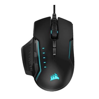 【CORSAIR海盜船】GLAIVE PRO RGB 電競滑鼠/黑色/有線/18000 dpi/RGB