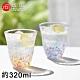 ADERIA 日本進口津輕系列手作櫻花雙色玻璃對杯禮盒組320ML product thumbnail 1