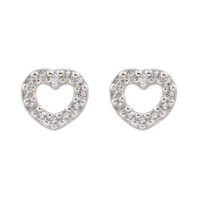 Pandora 潘朵拉 閃耀鑲鋯熱戀的心 純銀耳環