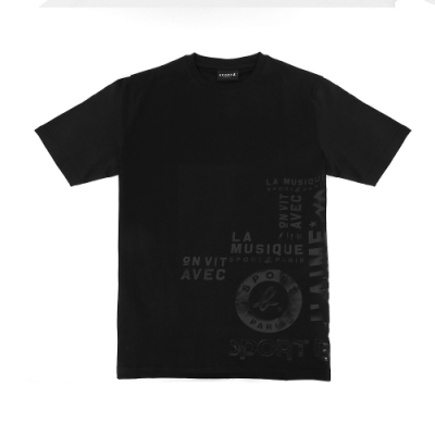 agnes b. - Sport b. 印花圓領短袖上衣(男)(黑)