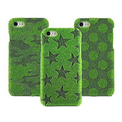 Shibaful iPhone 8/7/6S 4.7吋 雷雕 草皮硬殼