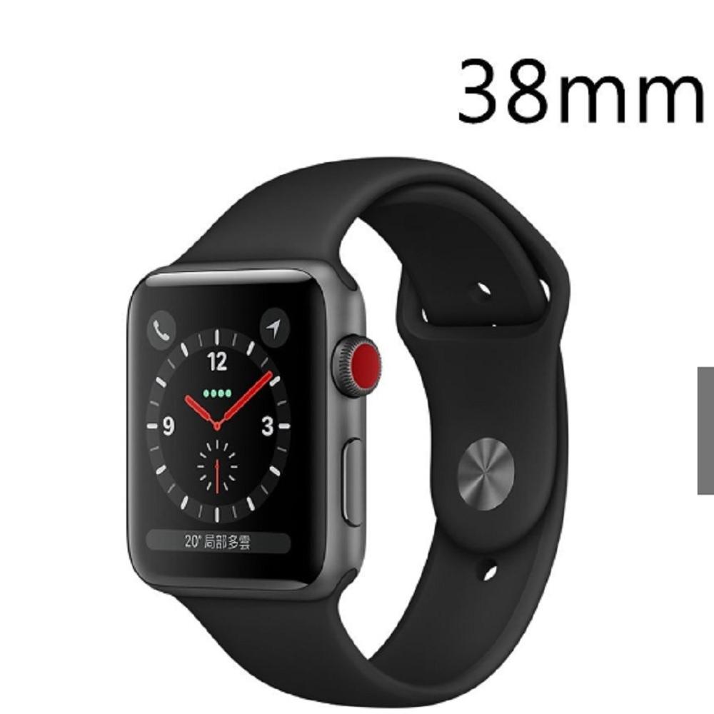 《福利品》Apple Watch Series 3 (GPS+網路) 38- 灰鋁金屬錶殼