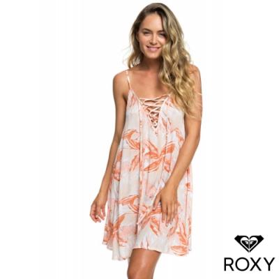【ROXY】SOFTLY LOVE PRINTED 洋裝 白
