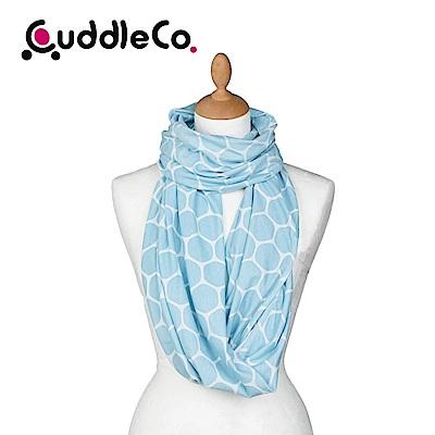 英國CuddleCo 多功能時尚造型哺乳圍巾-蔚藍六角