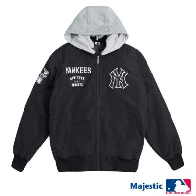 MLB-進擊可拆式連帽外套-黑 (男)