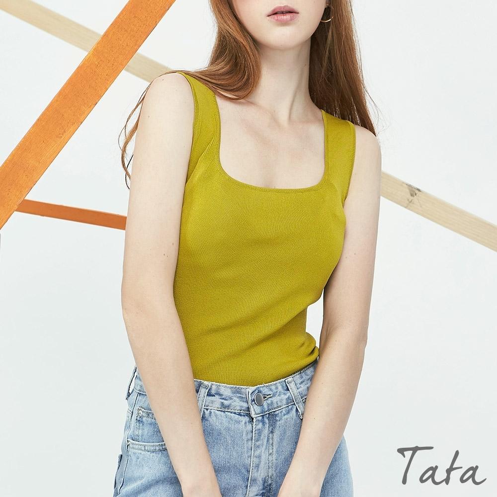 U領針織背心 共四色 TATA-F