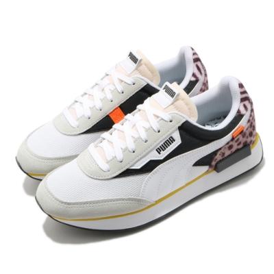 Puma 休閒鞋 Future Rider W Cats 女鞋 基本款 舒適 穿搭 動物紋 質感 球鞋 白 黑 37476801