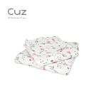 Cuz 粉紅花圃(紗布巾)30cm(2入)