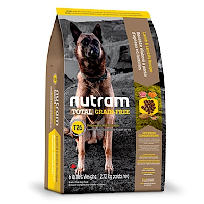 Nutram紐頓 T26 無穀挑嘴潔牙全齡犬(羊肉)配方 1.36KG