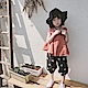小衣衫童裝    女童夏季新品寬鬆背心印花燈籠褲套裝1080203