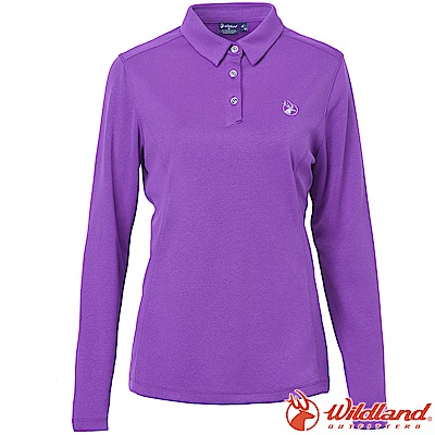 Wildland 荒野 0A62615-29紫羅蘭 女POLO本布領保暖衣
