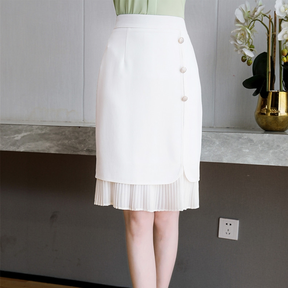 設計所在Lady-高腰中長版包臀中裙A字(二色S-2XL可選)
