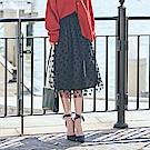 IREAL赫本圓點點網紗兩件式裙