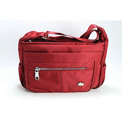 【DRAKA 達卡】多層收納外出防潑水斜背側背包-紅(44DK58270265)