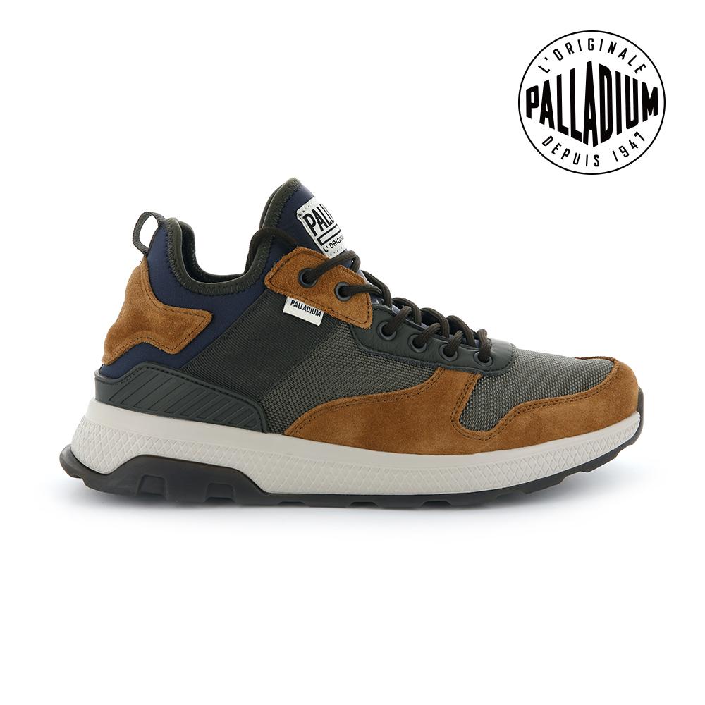 Palladium AX_EON Army Runner復古慢跑鞋-男-靛藍/土黃