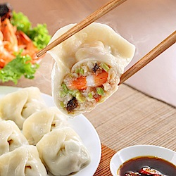 餃子樂 老王雙炸冷凍麵(單入)+三鮮鮮肉餃子乙包