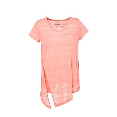 FILA女短袖T恤-粉桔 5TES-5602-OR