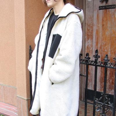ZIP日本男裝 BOA絨毛連帽長夾克外套大衣 (5色)