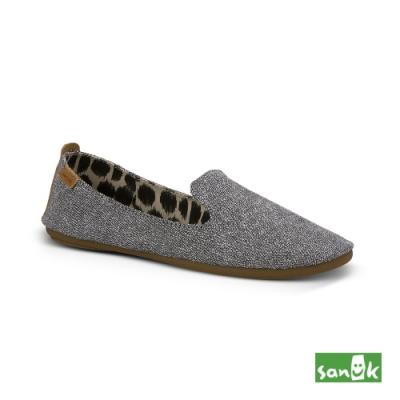 SANUK 女款 US6 舒適帆布平底鞋(灰色)