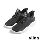 viina 網布時尚運動鞋-黑