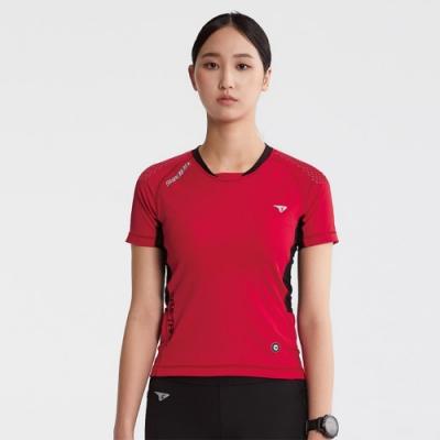 SUPERACE SA-TRAIL 修身版越野跑上衣2.0 / 女款 / 紅色