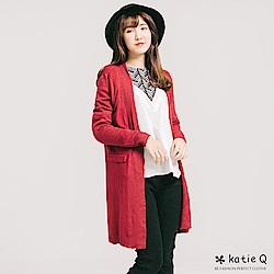 KT 優雅美感下擺顯瘦針織外套-紅